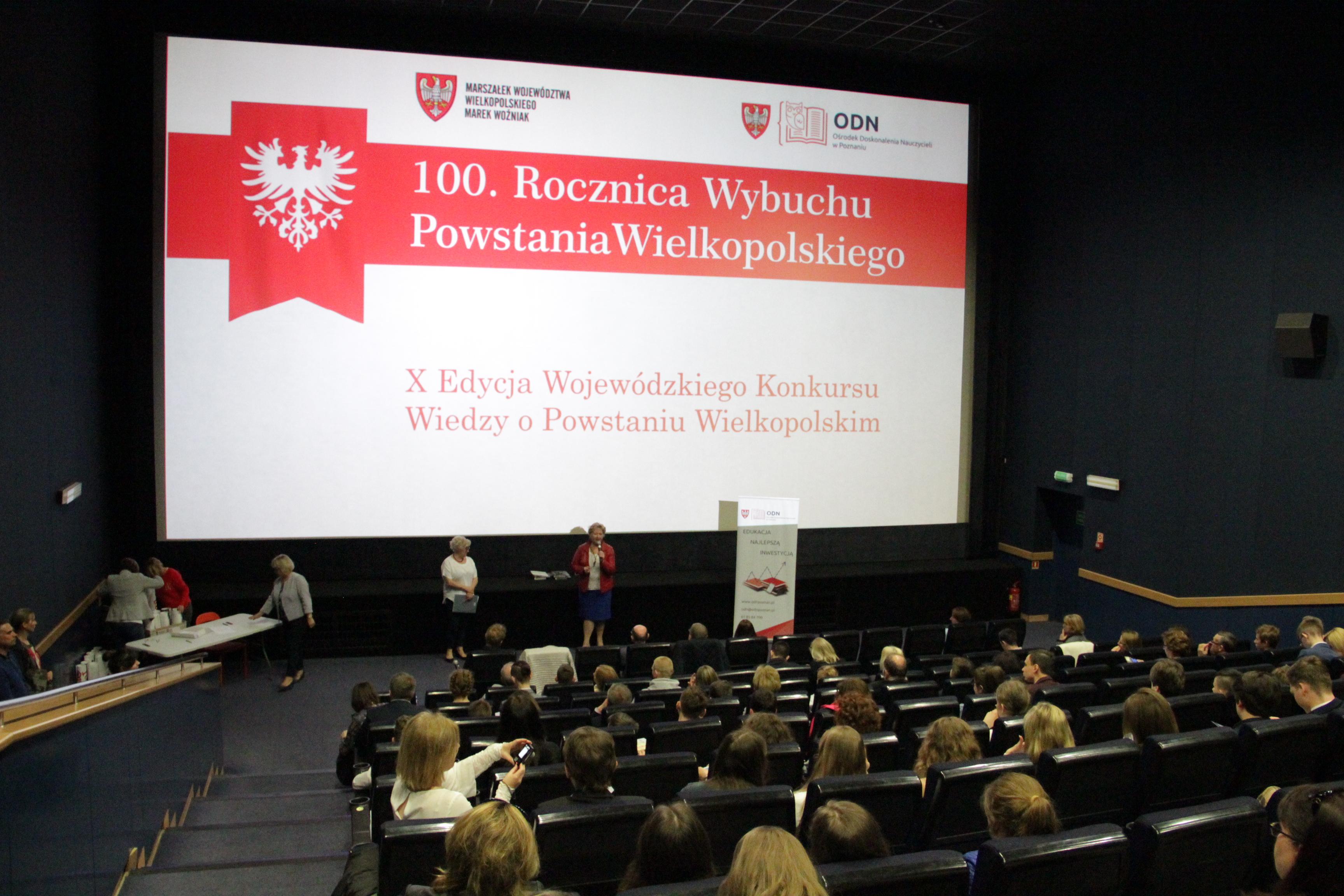 X. edycja Konkursu wiedzy o Powstaniu Wielkopolskim zorganizowana przez Ośrodek Doskonalenia Nauczycieli w Poznaniu.