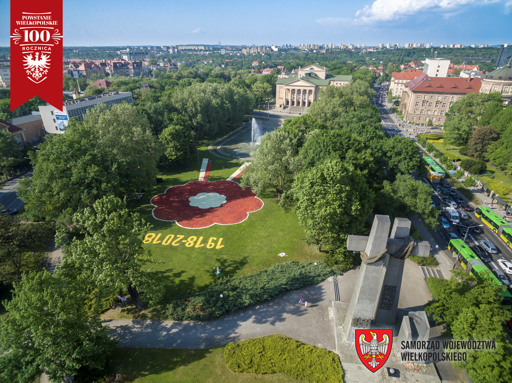 VI. Poznańskie Dywany Kwiatowe w hołdzie Powstańcom Wielkopolskim na 100. rocznicę wybuchu Powstania Wielkopolskiego