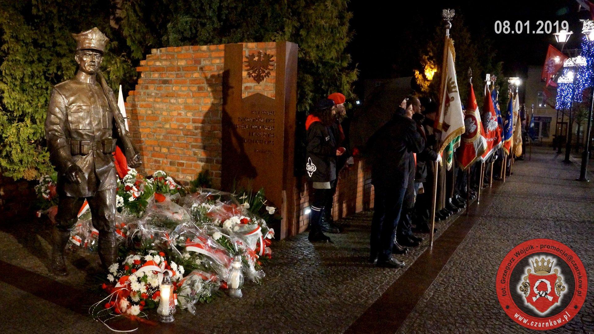 Odsłonięcie pomnika Powstańców Wielkopolskich w Czarnkowie