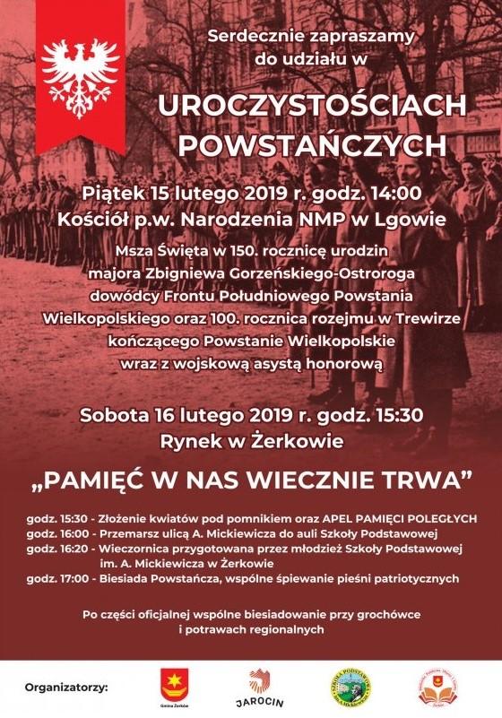 Obchody w Żerkowie i w Lgowie 15 i 16 lutego 2019 r.