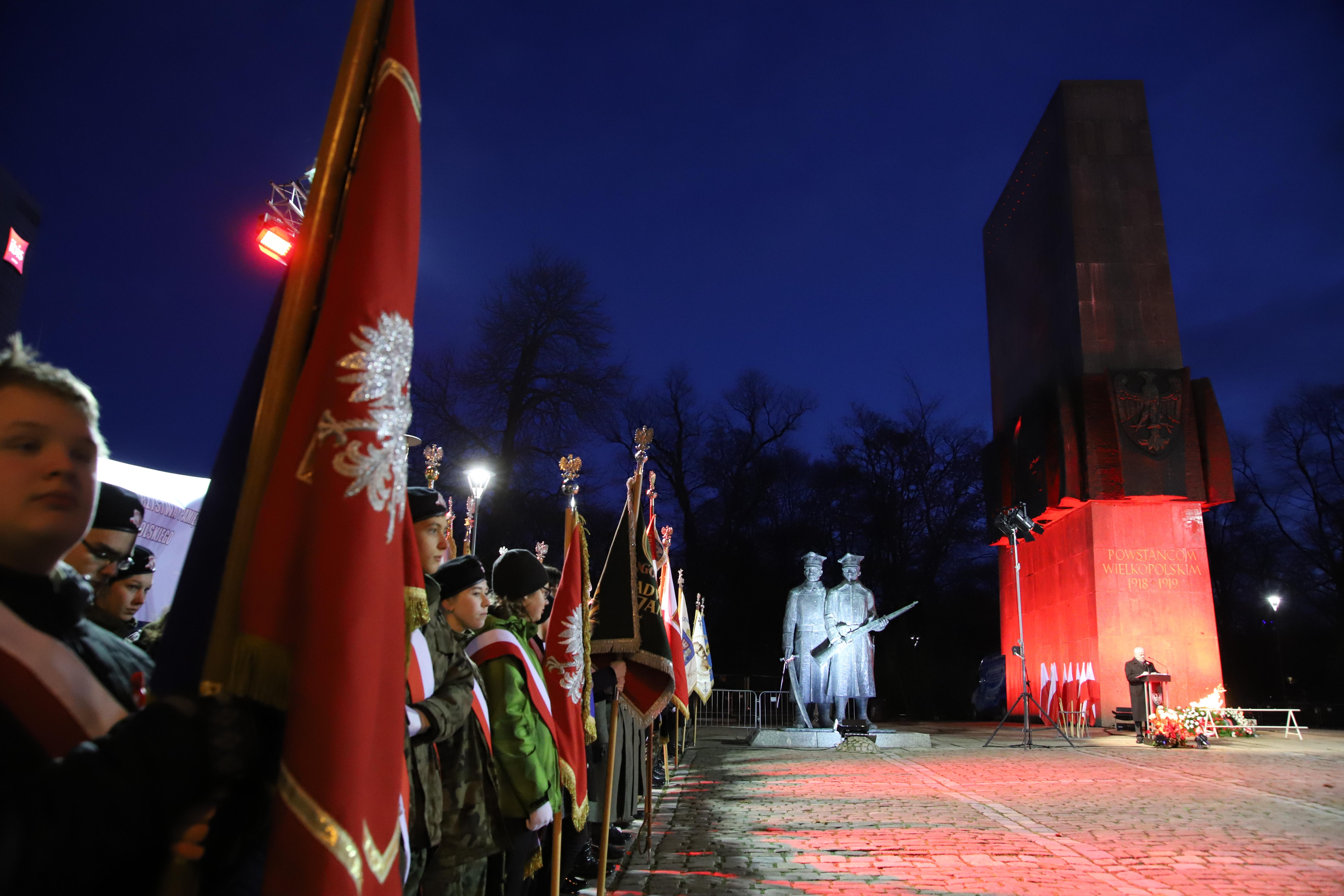 Uroczystości z okazji 101. rocznicy wybuchu Powstania Wielkopolskiego - relacja z obchodów w Poznaniu