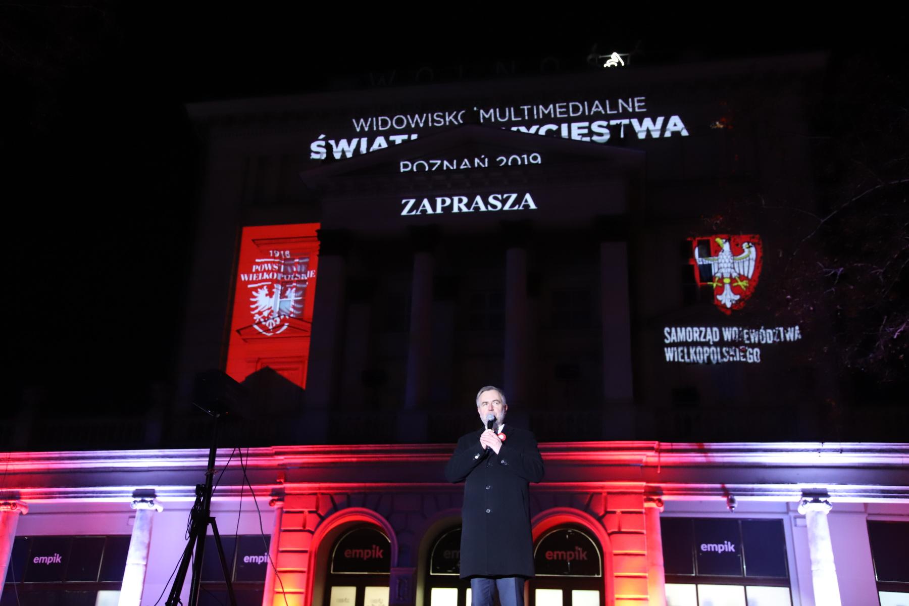 """Widowisko multimedialne """"ŚWIATŁO ZWYCIĘSTWA Poznań 2019"""" - relacja z wydarzenia"""