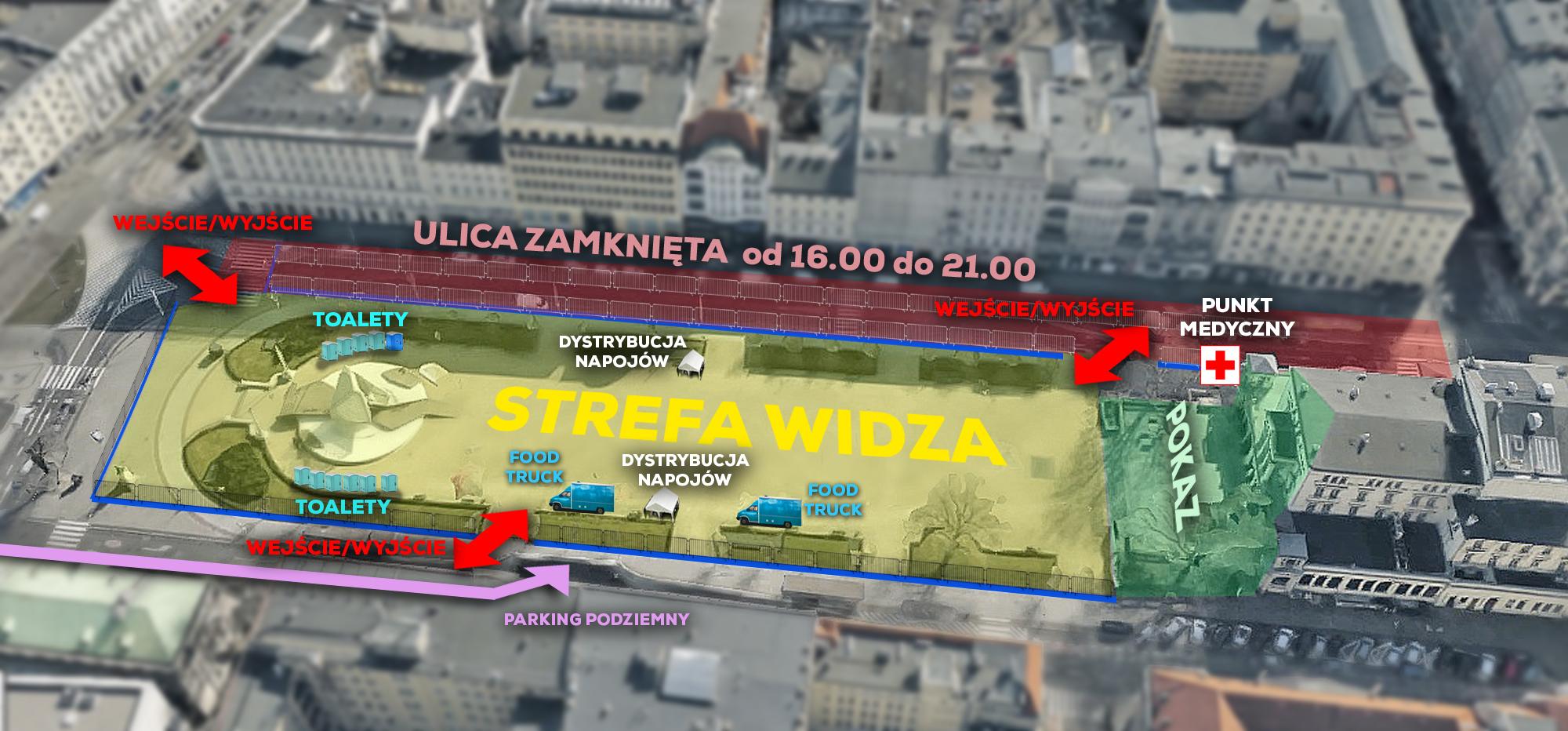 Widowisko multimedialne ŚWIATŁO ZWYCIĘSTWA Poznań 2019