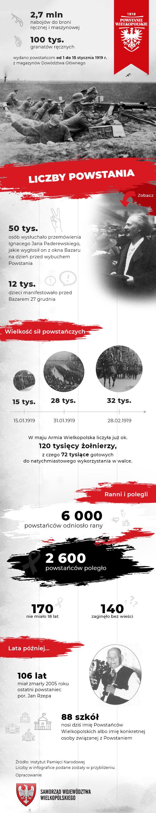 Powstanie w liczbach - infografika